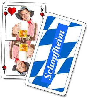 Schafkopf tarock mit logo und werbung bedrucken for Kartenspiel selbst gestalten